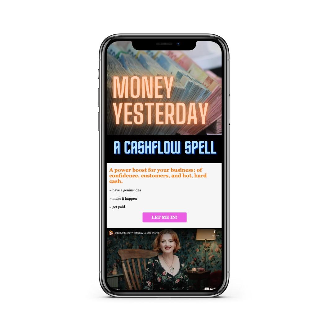 Image of MONEY YESTERDAY on smart phone